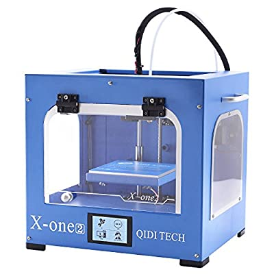 QIDI TECHNOLOGY New Generation 3D Printer:X-one2 (Blue color version,Metal Frame Structure,Platform Heating