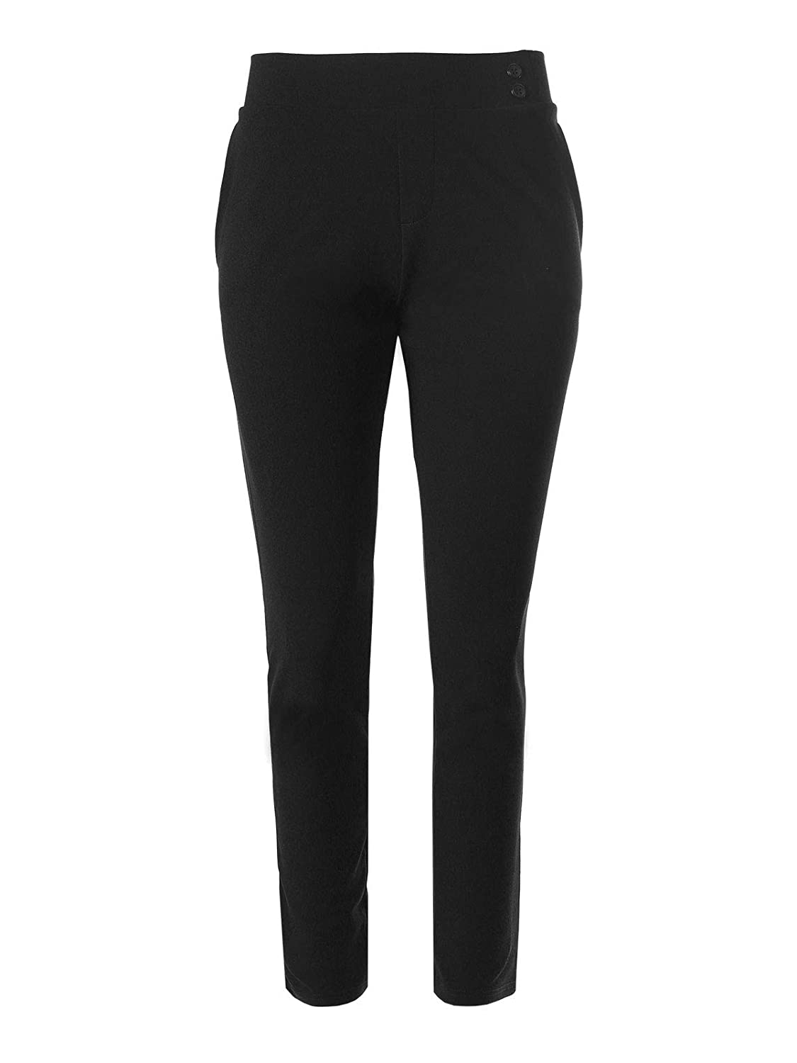 Design by Olivia Womens Solid Trouser Fit Knit Crepe Office Dress Pants
