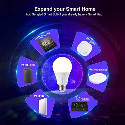 Sengled Smart Light Bulbs, Smart Bulbs That Work with Alexa, Google Home, SmartThings, E26 Led Bulb 60 Watt Zigbee Smart Bulb, A19 Alexa Light Bulb, 800LM, 60W Equivalent, Smart Hub Required, 4 Pack