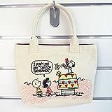 【スヌーピー】 畳み刺繍ミニトート パペット