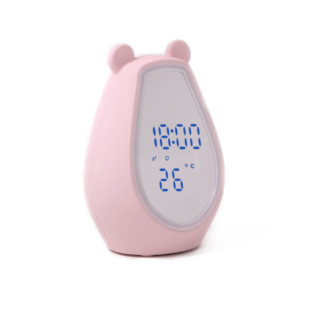 ホワイトピンクのプラスチックメイクミラータイミングの目覚まし時計ブルートゥースオーディオスマートLEDライトライトの恋人ガールフレンドガールフレンドギフト (Color : Pink) B07CSHGL8HPink