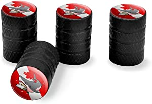 Graphics and More Angry Shark Scuba Diving Flag Diver Tire Rim Wheel Aluminum Valve Stem Caps