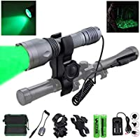 350 yard CREE LED Green Flashlight Hog Coyote Varmints...