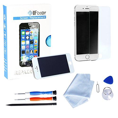 IFixer iPhone 6 LCD Display Bildschirm Ersatz Touchscreen Front Glas Ersatzteile-Set Werkzeugset inklusive Digitizer-Professionell Reparatur-Flussdiagramm Weiß