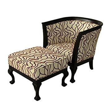 Carolina Accents CA10004 Biedermeier Chair U0026 Ottoman