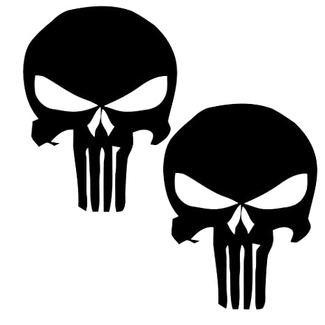 """pair 30/"""" PUNISHER skull Distressed hood side vinyl decal sticker for car track"""