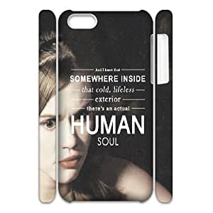 3D Bloomingbluerose Teen Wolf IPhone 5C Case Teen Wolf Quotes an Actual Human Soul for Women Protective, Iphone 5c Cases Fashionable for Women Protective [White]