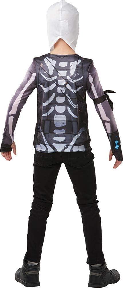 Fortnite - Disfraz camiseta Skull Trooper para niño, Medium - 152 ...