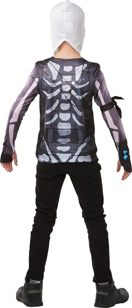 Fortnite - Disfraz camiseta Skull Trooper para niño, Small - 140 ...