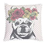 Thro by Marlo Lorenz TH016083001E 20'' x 20'' Bella French Bulldog Pillow, Coral