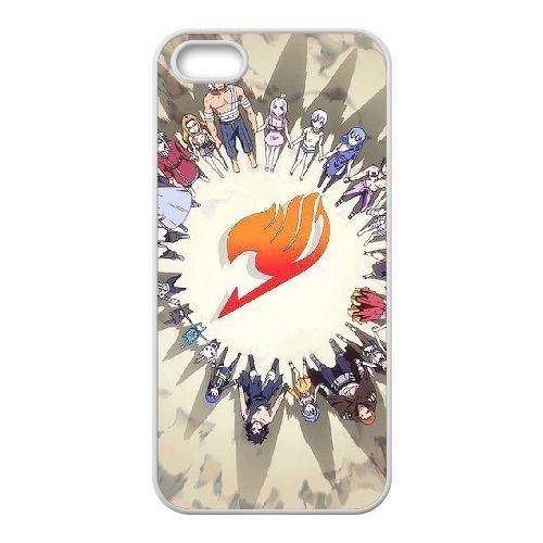 Fairy Tail 030 coque iPhone 5 5S Housse Blanc téléphone portable couverture de cas coque EOKXLLNCD14236