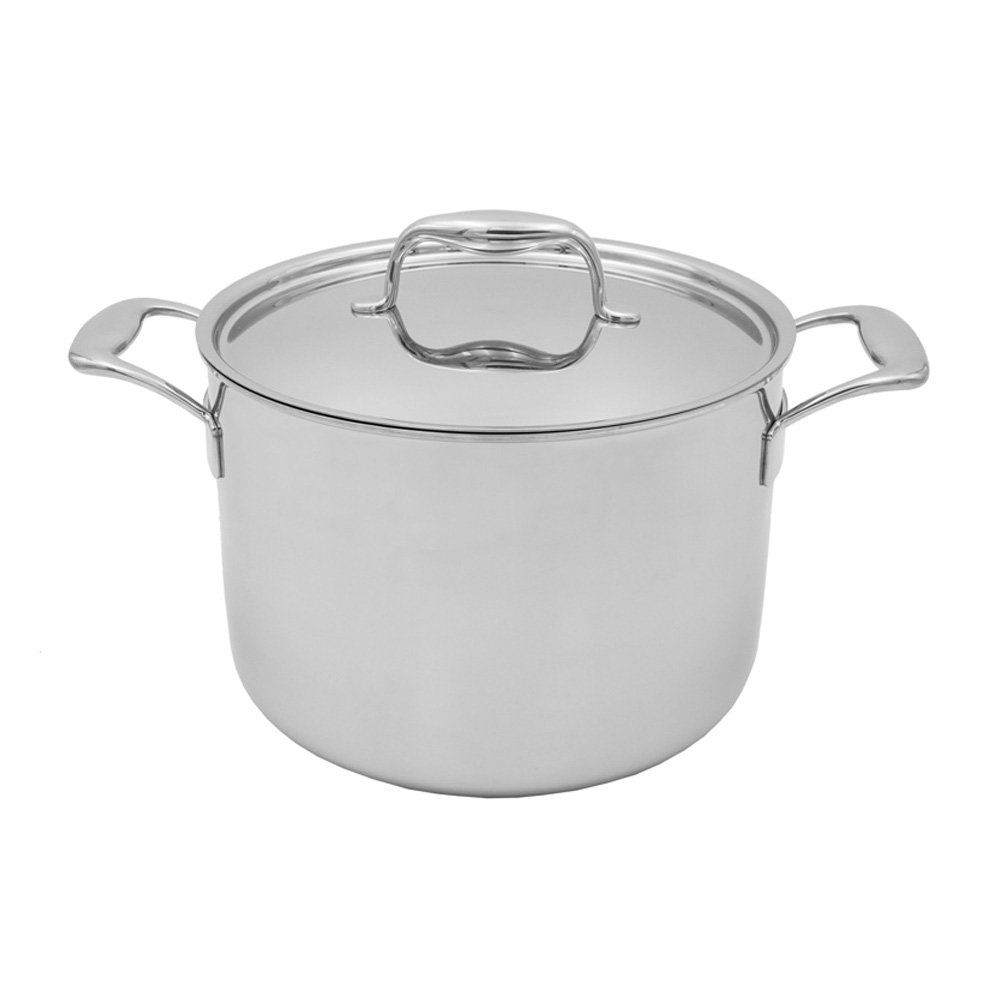 Tuxton Home THBCP2-SS8-M Duratux stainless steel stockpots 8 qt Silver