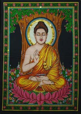 Huge Cotton Fabric BUDDHA 43