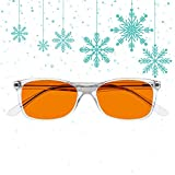 [Unique Gift for Christmas] Swannies Premium Blue Light Blocking Glasses for Better Sleep and Eye Strain Relief for Computer Games, Reading or TV Screens - (Diamond) Regular