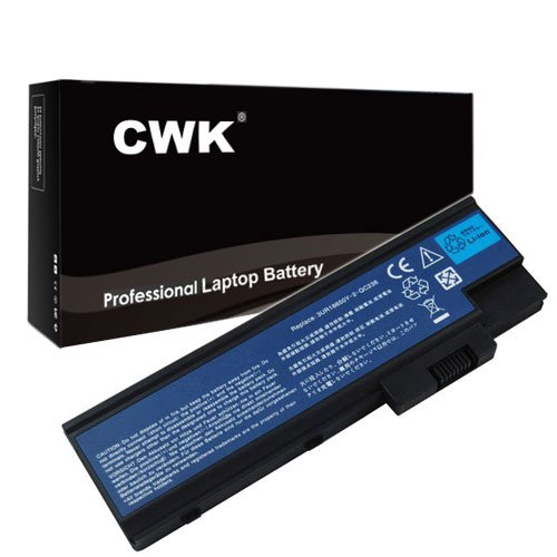 CWK New Replacement Laptop Notebook Battery for Acer BT.00803.018 BT.00804.011 BTP-BCA1 CGR-B/6F9 CGR-B/8B5 Acer 4UR18650F-2-QC218 916-C4680F BT.00603.021 BT.00803.014 Acer 3UR18650Y-2-QC236 Lip-