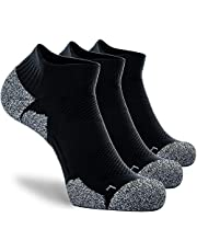 CWVLC Ankle Low Cut Compression Athletic Socks (3/6 pairs) Cushioned 16-23 mmhg for Men Women
