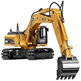 GEYIIE Alloy Excavator Model Vehicle Diacast Caterpillar Engineering Construction Toy for Kids and Home Decoration Gift Pack