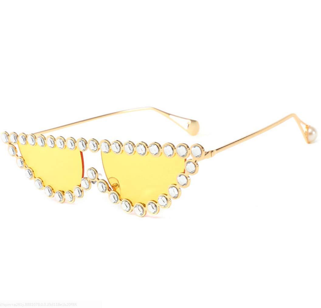 FILTERQ Gafas de Sol Unisex para Adultos con Gafas de Sol polarizadas y Montura de Metal. Gata para Mujer. Gafas de Sol lujosas de Lady Diamond para Mujer.
