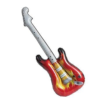 Unique Party 90656 - Guitarra eléctrica inflable Rock Star de 38 pulgadas: Amazon.es: Juguetes y juegos