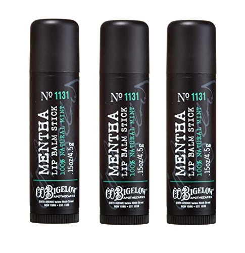 Lot of 3 Bath Body Works C.O. Bigelow 1131 Mentha Lip Balm Stick 0.15 oz 4.5 g