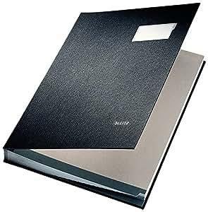 Leitz 57000095 - Libro de firmas con cubierta de polipropileno (20 secciones), color negro