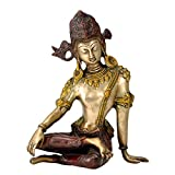 Gangesindia King of Heaven Lord Indra Dev Brass Statue