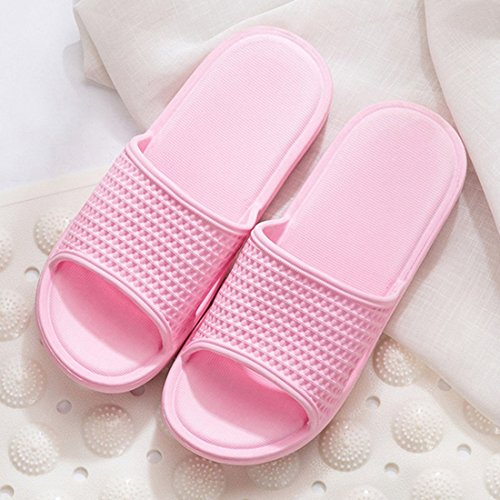 Shoes Slippers Slip Indoor Pink Home HUAIDE Bathroom Bottom Slippers Home Soft Non vfq1qd4S