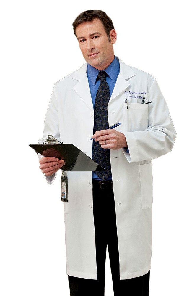 White Swan Embroidered META Men's Classic 40'' Doctor's Lab Coat (Style 267) Size 40