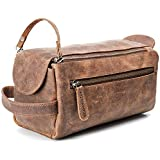 Leather Toiletry Bag for Men - Stylish, Practical and Thicker Than Other Bags - This Handmade Vintage Unisex Dopp Kit is…