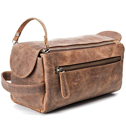 Leather Toiletry Bag for