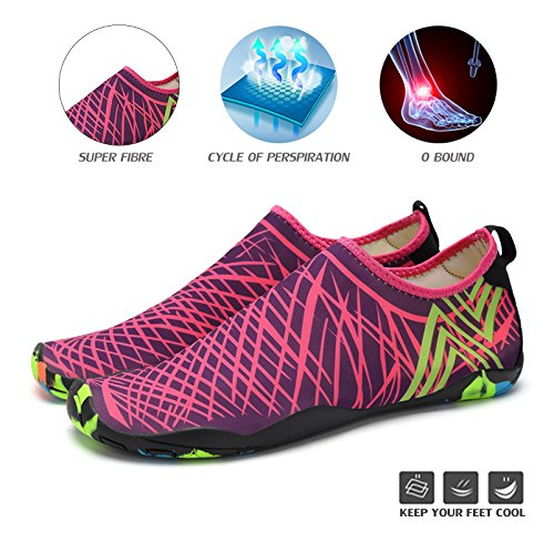 Water Shoes Yoga Shoes Dry Surf Womens Purple Pool Aerobics Water Quick Swim for Socks Aqua Mens Beach Shoes RxZ6Zp
