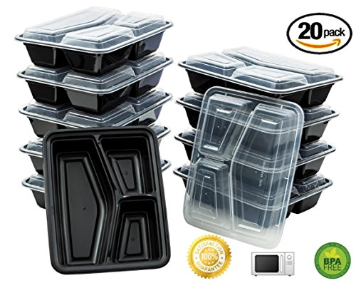 Green Direct 3 Compartment Microwavable Food Container with