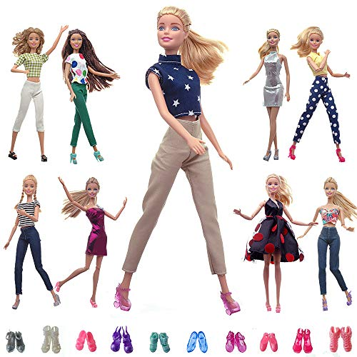 5 OUTFITS FOR BARBIE DOLLS