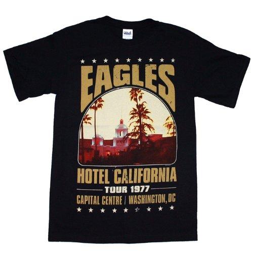 Rock Tour T-shirt (Eagles- Hotel California Tour Mens T-Shirt,black,2X-Large)