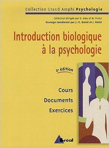 Livres Introduction biologique à la psychologie pdf, epub
