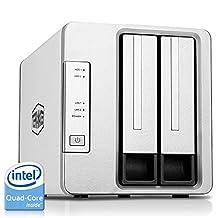 Noontec-TerraMaster F2-420 NAS Server 2-Bay Intel Quad Core 2.0GHz 4GB RAM Network RAID Storage for Small/Medium Business (Diskless)