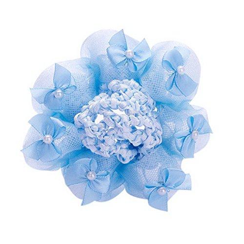 over Snood Ballet Dance Bow Tie Hair Net Hair Accessory Blue ()