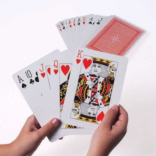 Giant 5 x 7 Inch Playing Cards (List Of Casino Games With Best Odds)