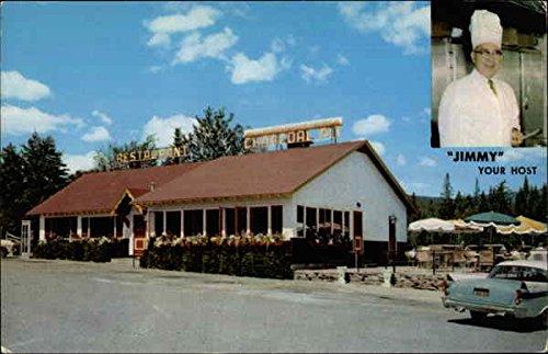 The Charcoal Pit Lake Placid, New York Original Vintage Postcard - Curt Charcoal