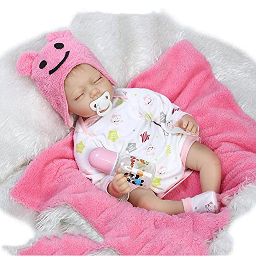 GGGarden 22inch Twins Reborn Baby Doll Lifelike Boy Girl Play House Toy - A