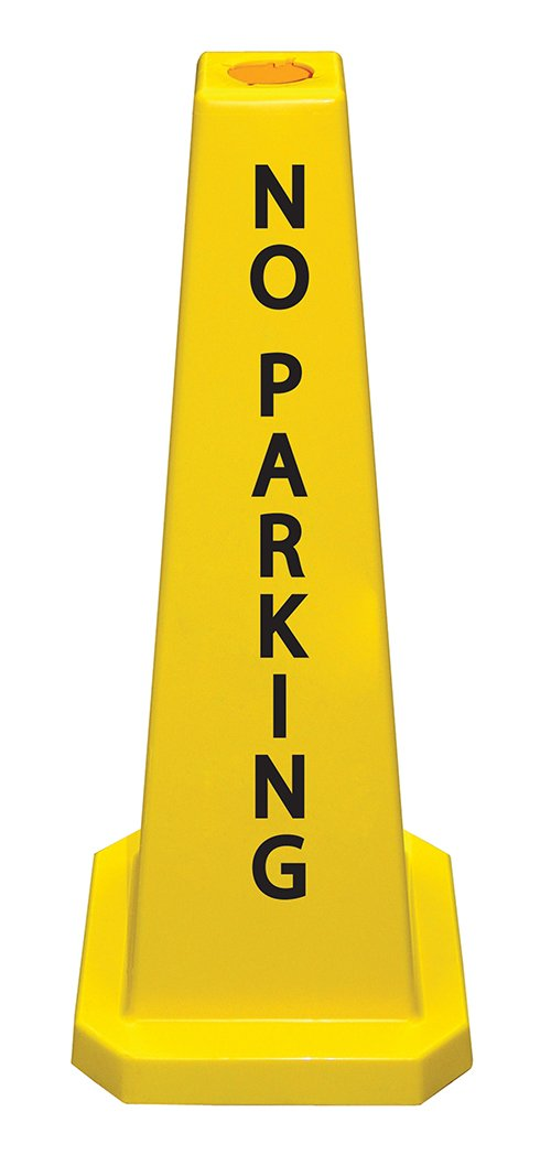 Cortina Lamba 36'' Cone 'No Parking', 03-600-11, Yellow by Cortina