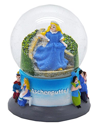 30036 Snow Globe German Fairytales Cinderella 3.3 Inch. (Snow Globe Jar)