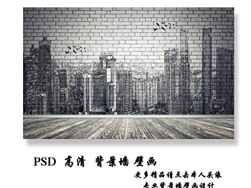 GIKMK 3D Wallpaper Mural Custom Chinese Three-Dimensional Embossed Pine Crane Figure Background Wall