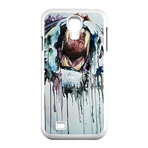 Samsung Galaxy S4 Cases Tiger Graffiti Unique For Guys, Cute Case For Samsung Galaxy S4 Mini Unique For Guys [White]