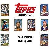 Collectible Trading Cards Pack (20 Cards per Pack) - Randomly Inserted All Pro Mint Cards - MLB, NBA, NFL - Baseball, Basketball, Football, Soccer, Hockey (1989 Topps MLB Baseball)