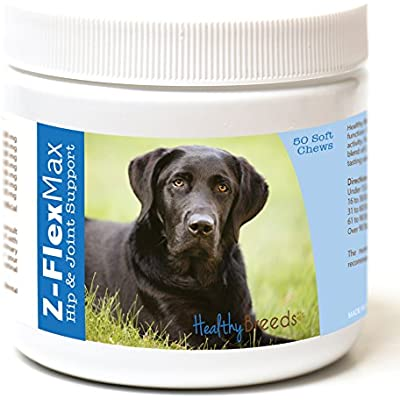 Healthy Breeds Z-Flex Max Hip & Joint Support Soft Chews - Over 100 Breeds - Medium & Large Breed Formula - 50 or 180 Count