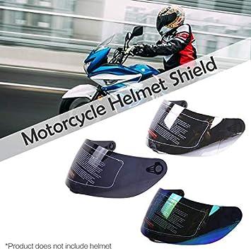 Amyove Lente Universal antiara/ñazos del Casco para el reemplazo de la Cara del reemplazo del Casco de la Motocicleta de AGV K3 SV K5 Plata