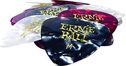 Ernie Ball Medium Assorted Color Cellulose Picks bag of 24