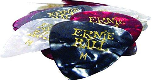 Ernie Ball Medium Pearloid Assorted Color Picks, Bag of 24