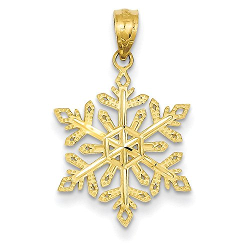 Pendants Celebration Charms 14K Yellow Gold Snowflake Charm Pendant ()